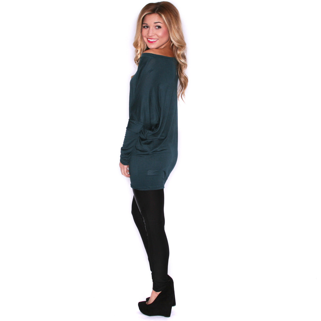 Wrap Me Up Tunic Hunter Green