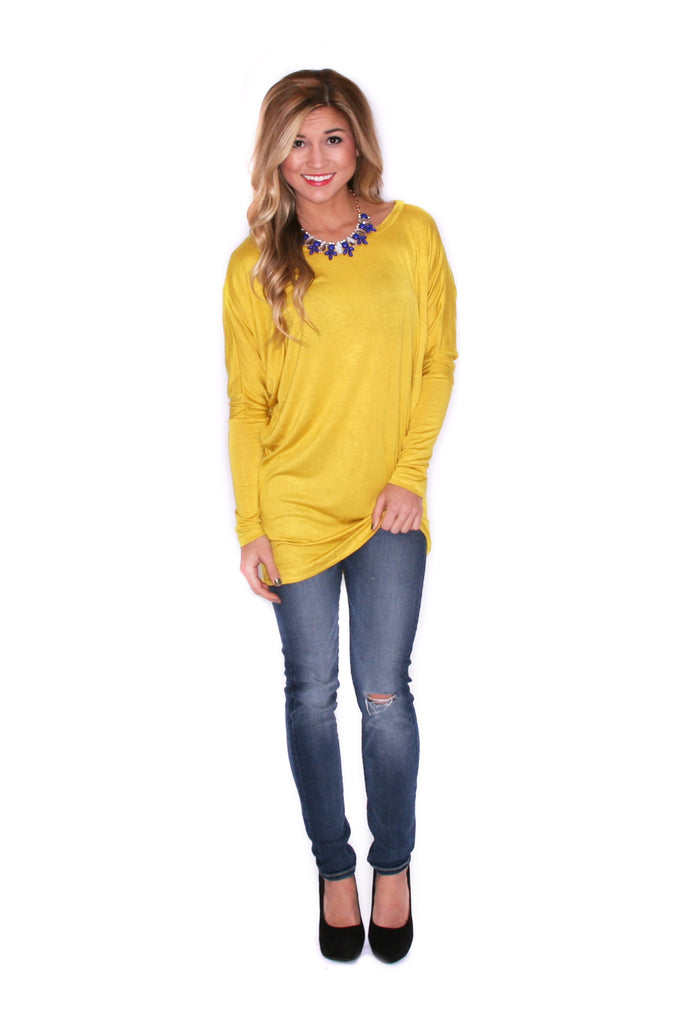 Wrap Me Up Tunic Mustard
