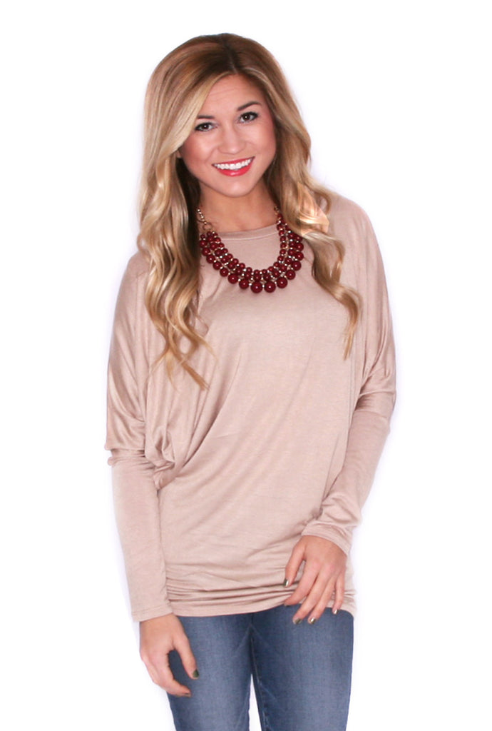 Wrap Me Up Tunic Taupe