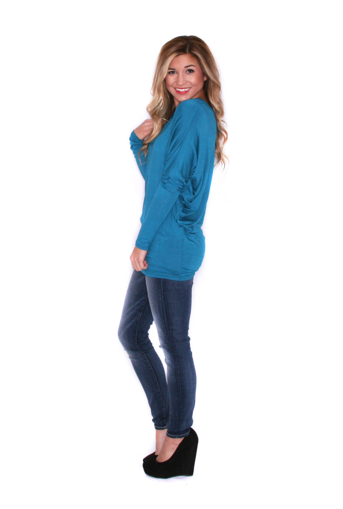 Wrap Me Up Tunic Teal