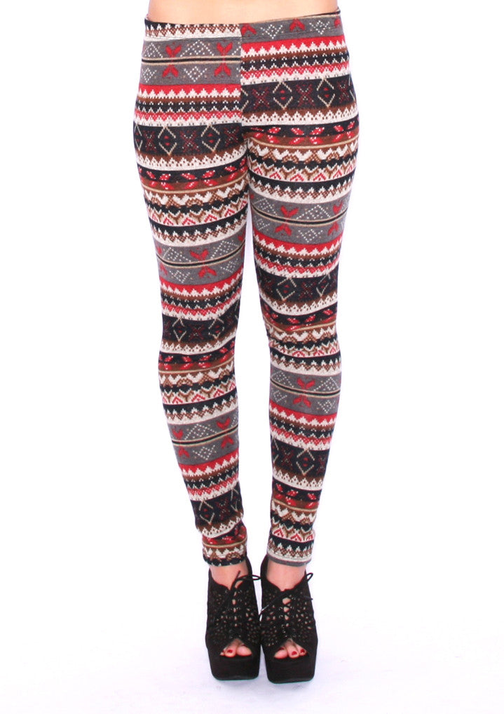 By The Christmas Tree Legging in Rust