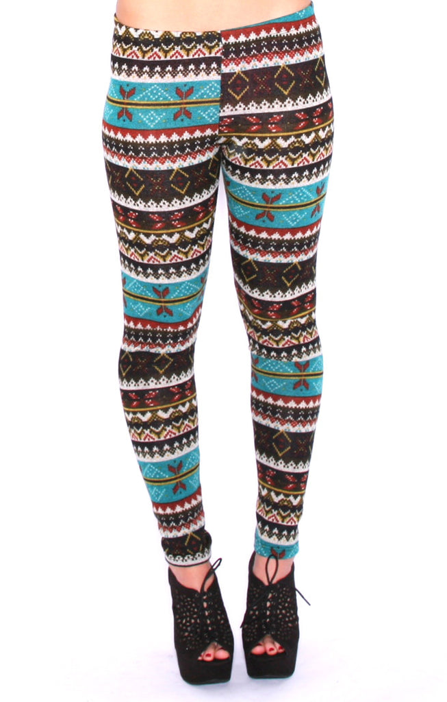 By The Christmas Tree Legging in Teal