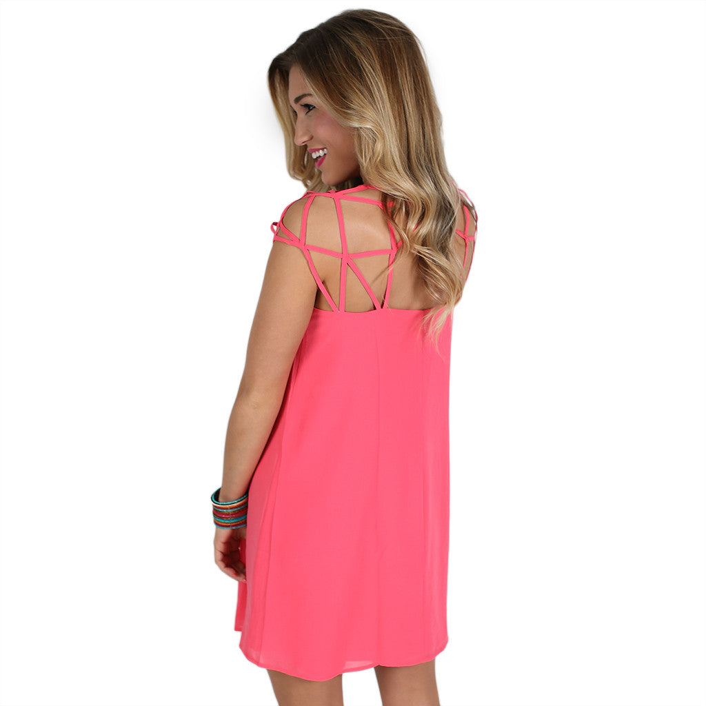 You Found Me Dress in Coral