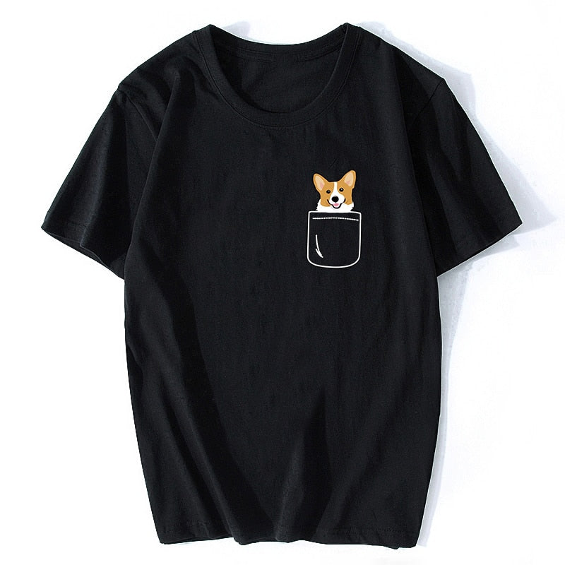 Corgi Pocket T-Shirt