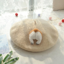 Load image into Gallery viewer, Corgi Butt Beret Cap