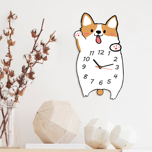 Corgi Dog Wall Clock Decor