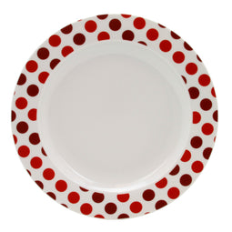 Set of 4 Dinner Plates, BUZZ