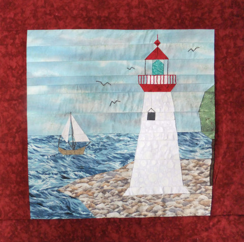 Marblehead Light Quilt Square