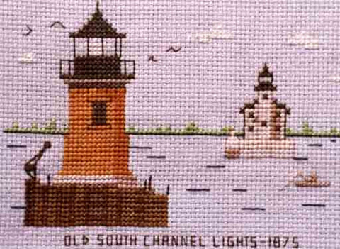Old South Channel Lights 1875