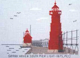 Grand Haven South Peir Light 1875, 1922