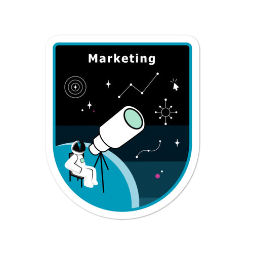 Major Tom Crew Patch Sticker - Marketing
