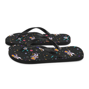 Space Animals Flip-Flops