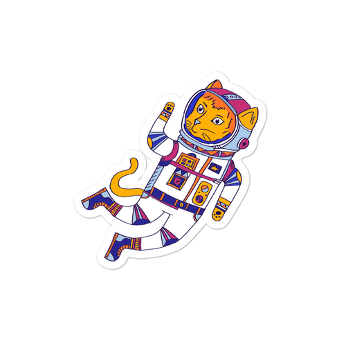 Space Animals Astrocat Sticker