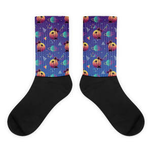 Sci-fi summer socks - blue