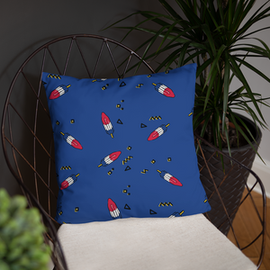 Rocket Popsicle Throw Pillow