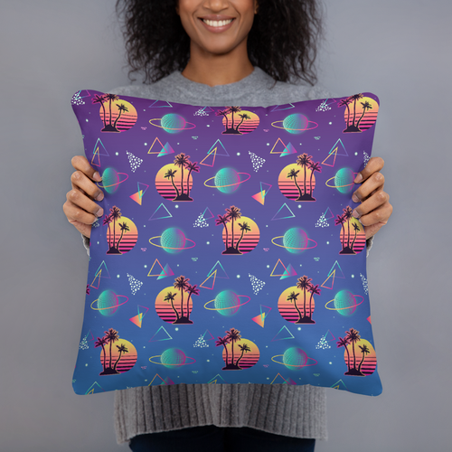 Sci-Fi Summer Throw Pillow