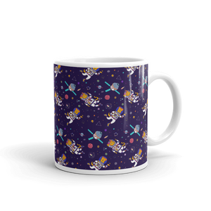 Space Animals Pattern Mug