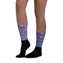 Load image into Gallery viewer, Sci-fi summer socks - blue
