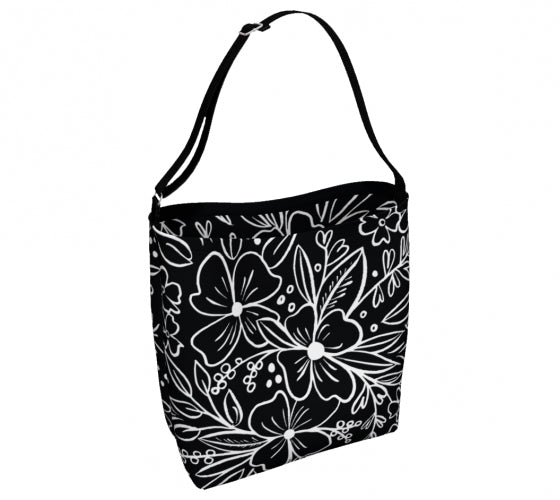 Chalk Florals Day Tote