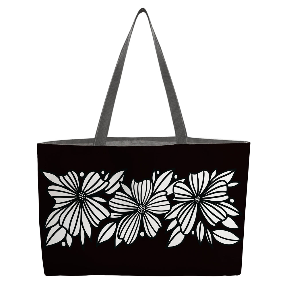 Three Florals Beach Bag - kathryncole