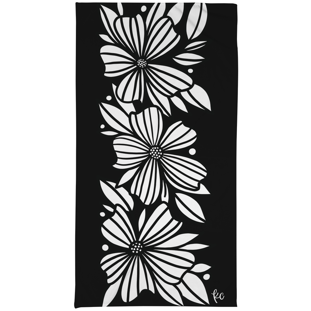 Three Florals Large Beach Towel - kathryncole