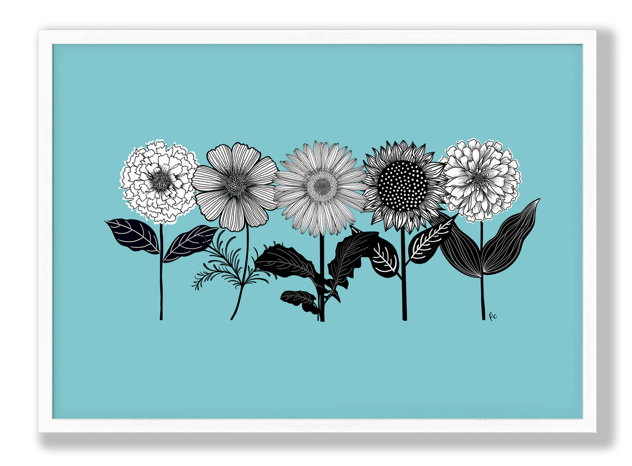 Flower Friends Art Print