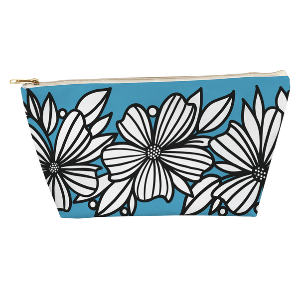 Three Florals T Bottom Accessory Pouch - kathryncole
