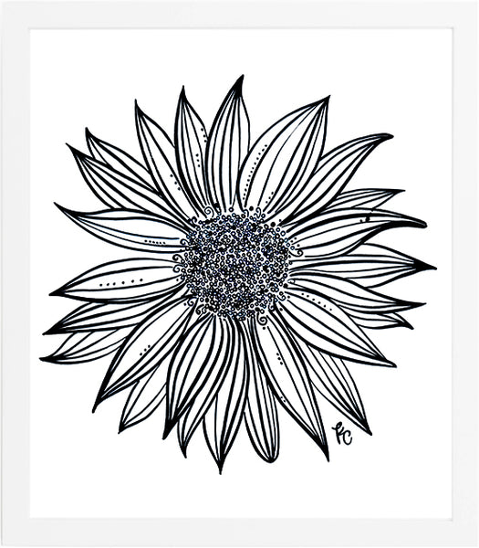 Sunflower Art Print - kathryncole