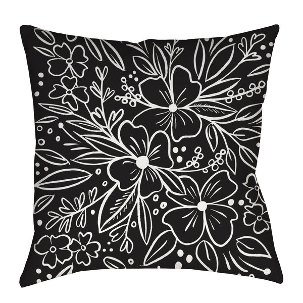 Chalk Florals Pillow
