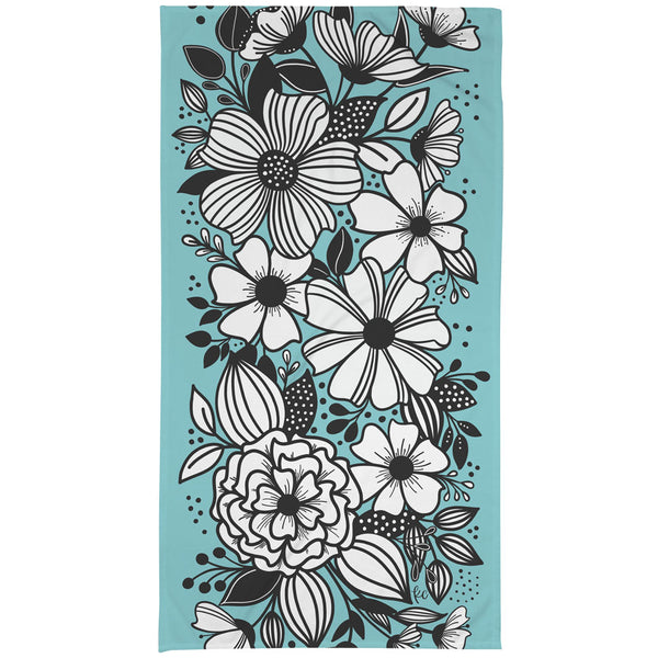 Dancing Florals Large Beach Towel