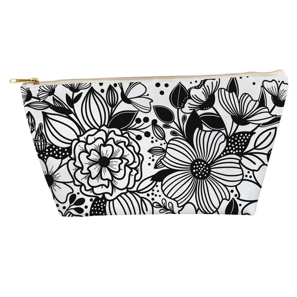 Dancing Florals T Bottom Accessory Pouch - kathryncole
