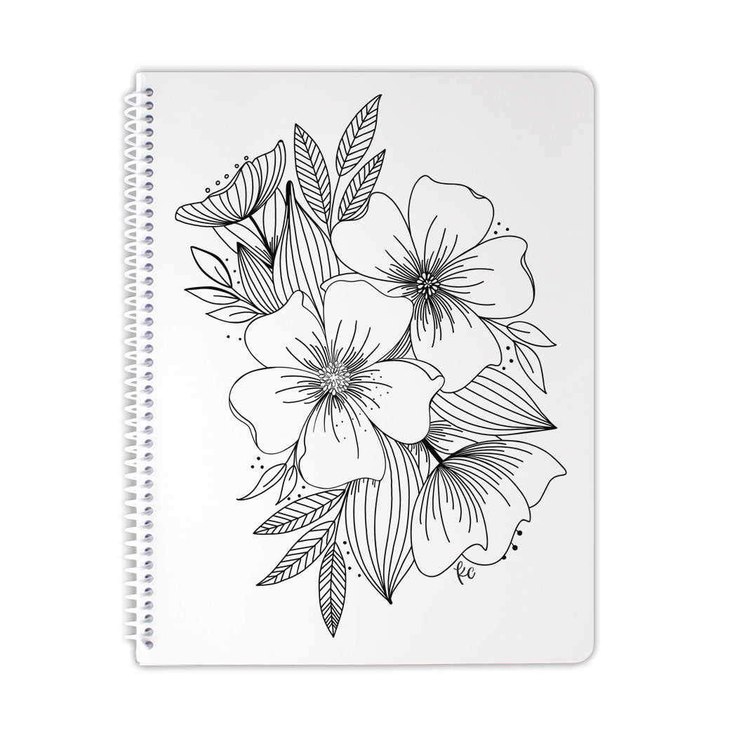 Floral Spray Notebook
