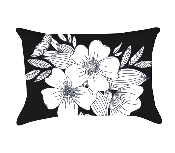 Floral Spray Pillow (rectangle)