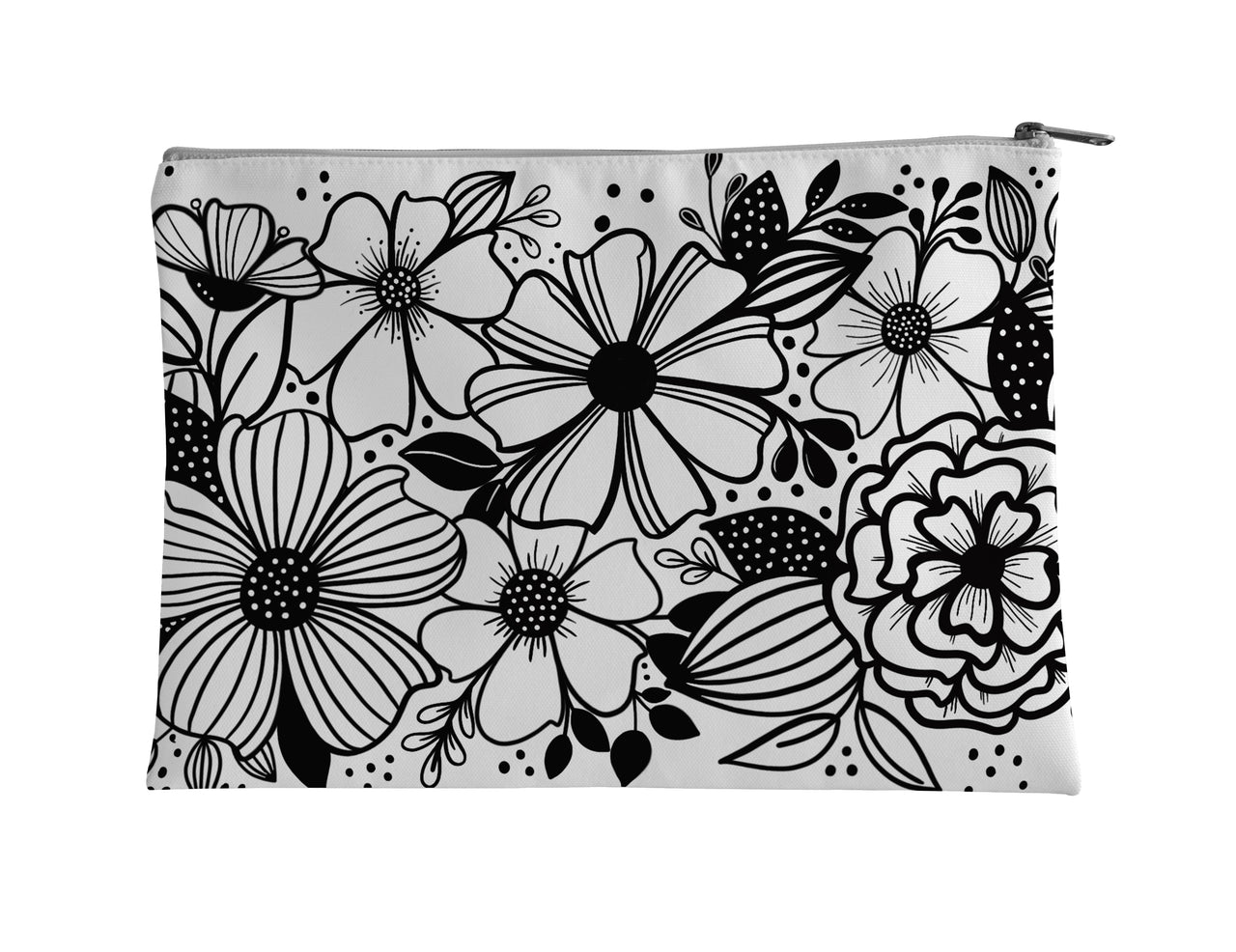 Floral Border Accessory Pouch - kathryncole