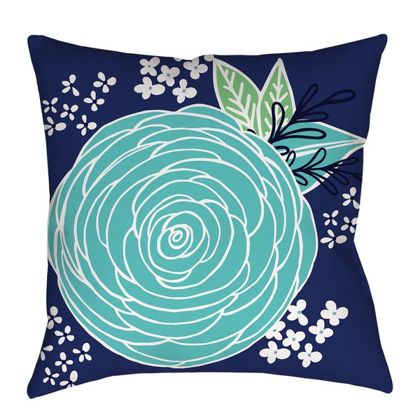 Jardin de Ville Pillow in Blue