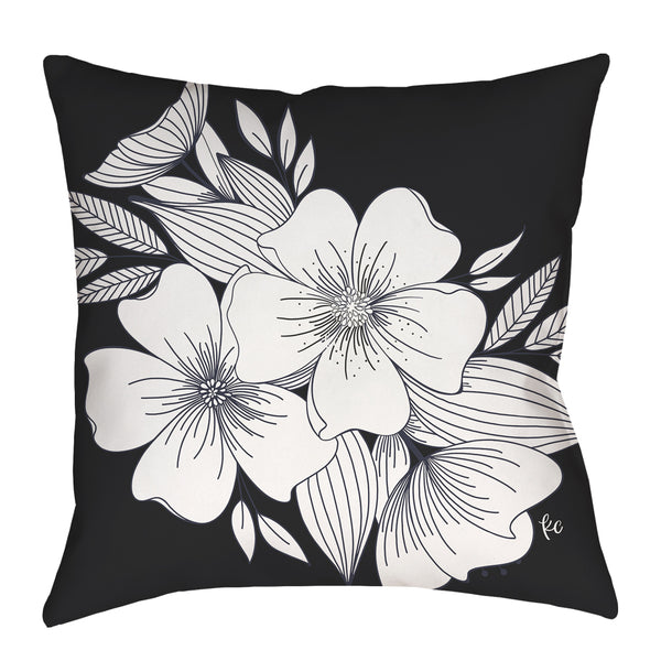 Floral Spray Pillow