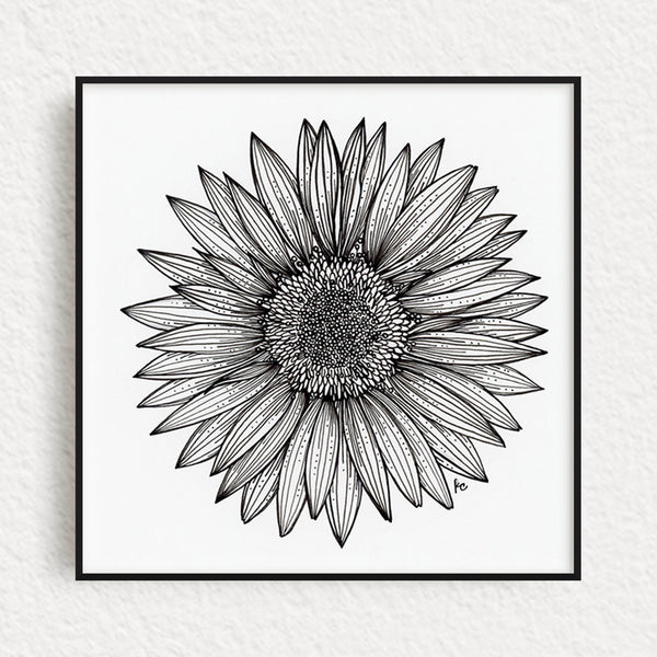 Gerber Daisy Original Art, no. 1