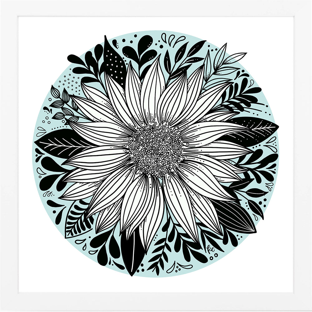 Sunflower Round Art Print