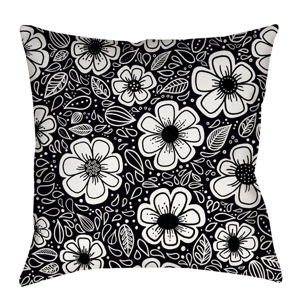 Happy Painterly Flowers Pillow