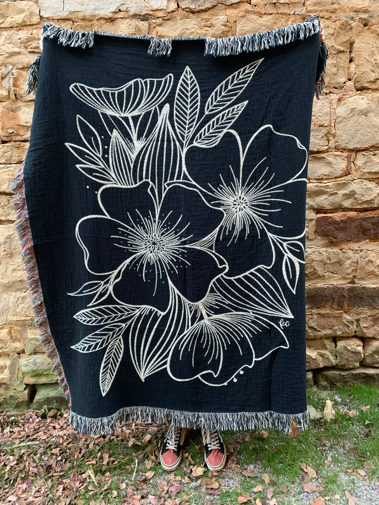 Floral Spray Woven Throw (limited edition)
