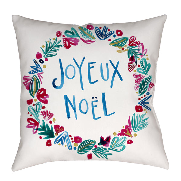 Joyeux Noël Pillow in Red