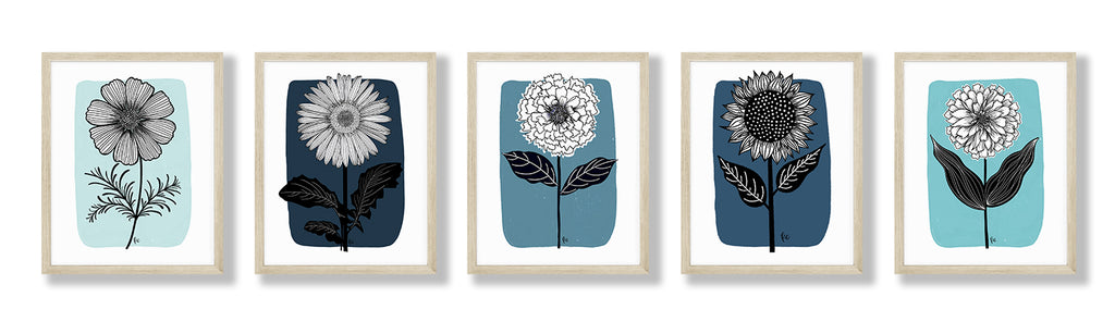 Favorite Flower Series Art Print (set of 5)