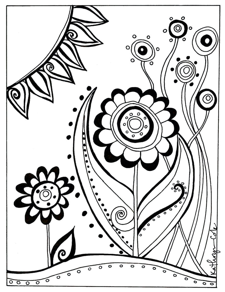 Coloring Page Art Print Download - kathryncole