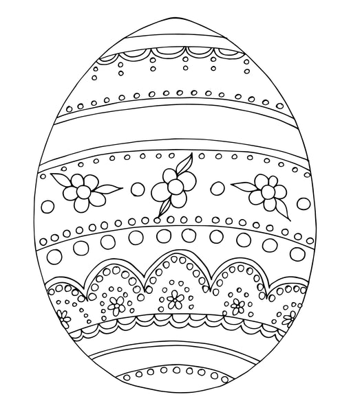 Vintage Easter Egg Art Print Download - kathryncole