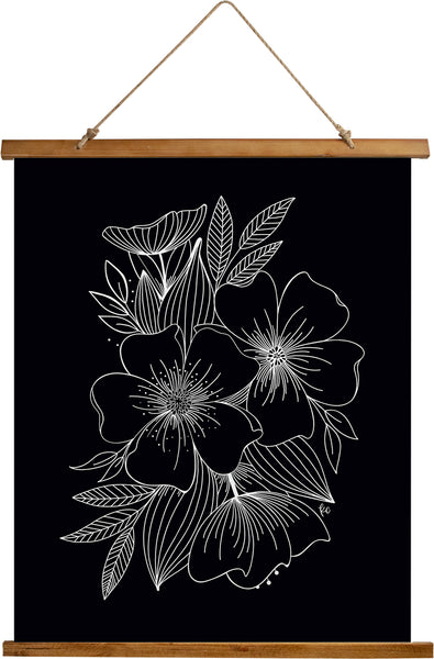 Floral Spray Art Print - kathryncole