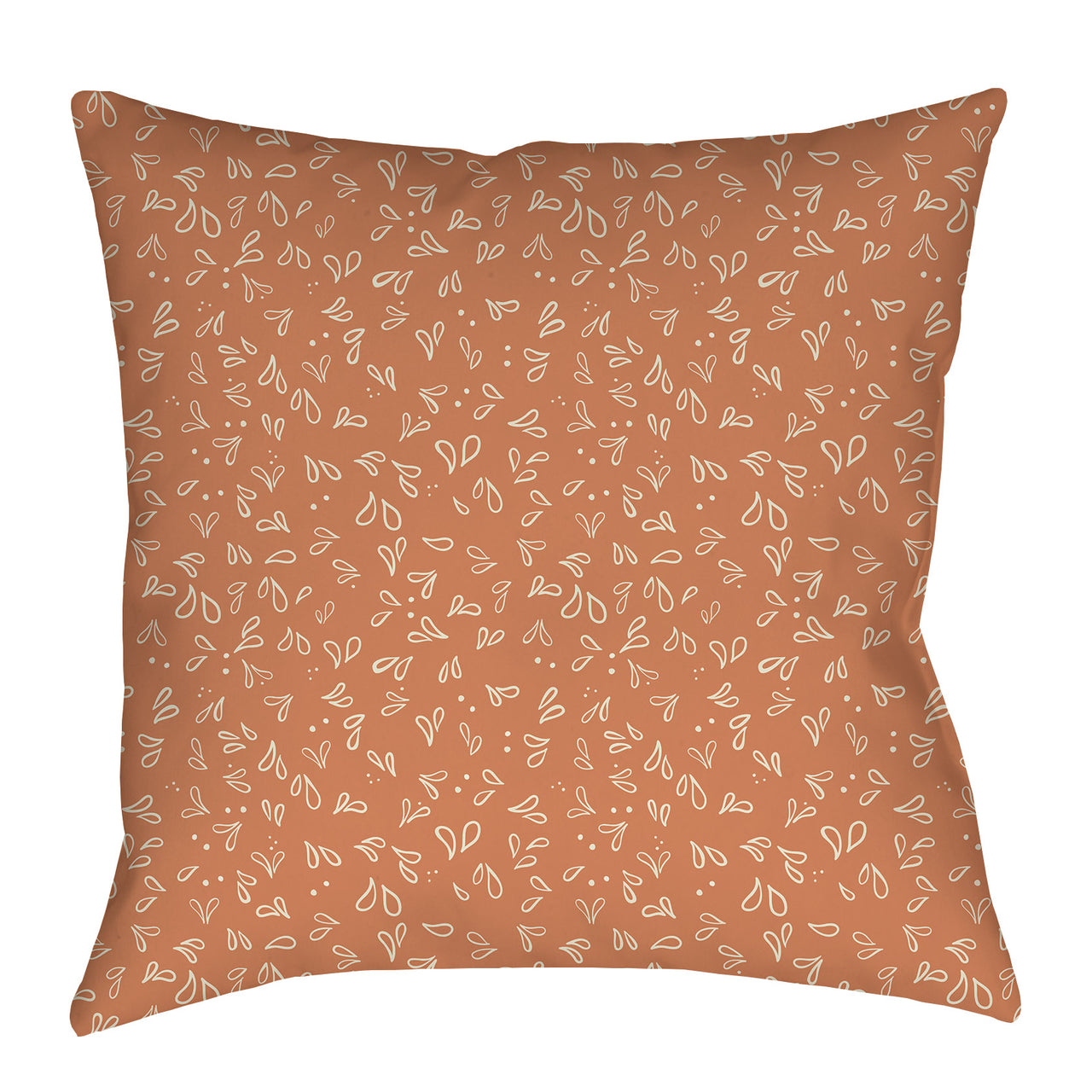 Orange drops Pattern Pillow