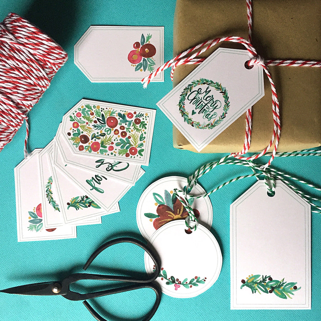 Holiday Gift Tags (Printable)