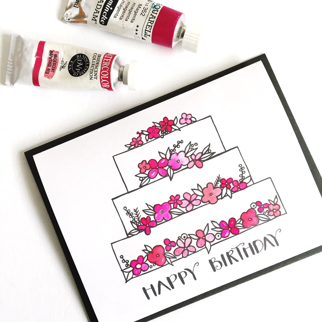 Birthday Coloring Card (Digital Download) - kathryncole