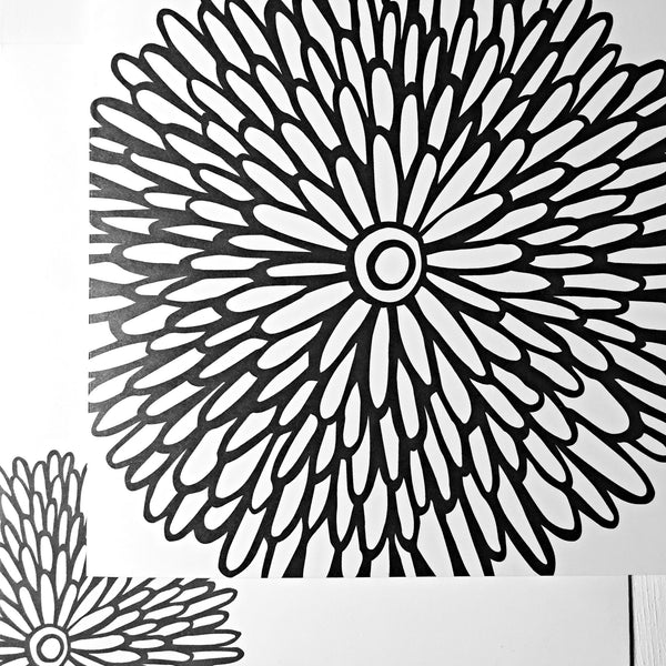 Dahlia Coloring Card - kathryncole