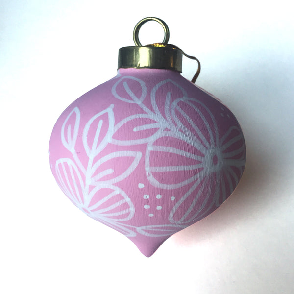Happy Florals Vintage Style no. 3 Ornament - kathryncole